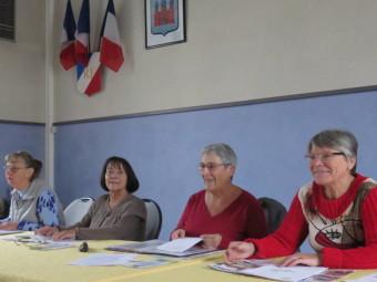 De gauche à droite : Marie-Louise Demangeat, Juliette Costes, Chantal Lovato et Laurence Goujard