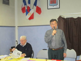 Serge Renoud (au micro) et Yvon martin, chevilles ouvrières de l'académie