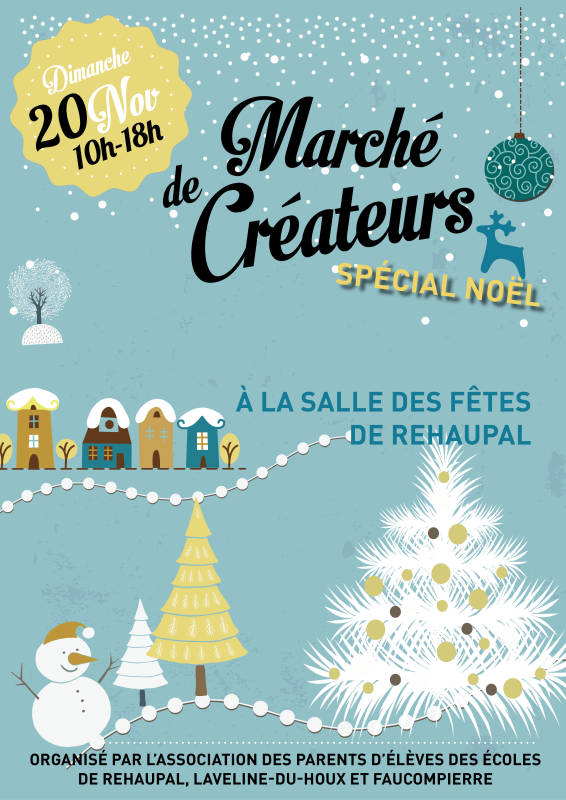 RPI - marché créateurs spécial Noel - affiche