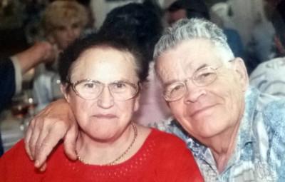 Cécile en compagnie de son mari Gilbert