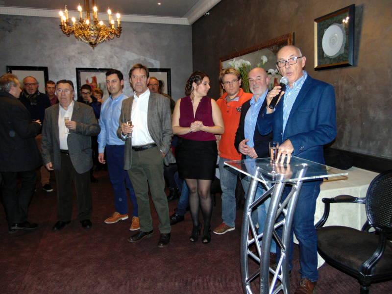 Emmanuel Roussat au micro en compagnie de l'équipe de Hohneck agazine