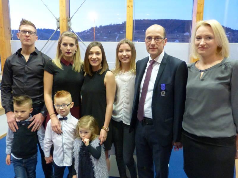 Pascal Weingertner ici en famille avec son épouse et ses enfannst et petits-engfants