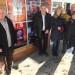 Le président Pierre Sachot en compagnie de l'adjoint Jean-François Duval et de bénévoles du festival, maillon important de cette chaîne fantastique