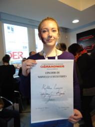 Bravo à Kathleen, auteure d'une excellente nouvelle et venue de Dreux pour recevoir son prix