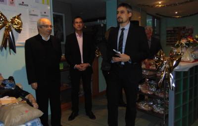 Mathieu Roche a naturellement fait voeux de santé pour le personnel et les résidents de l'EHPAD