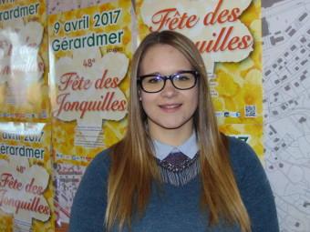 Maud Cornil – 18 ans. Habite à Gérardmer, actuellement en dernière année de BAC pro restauration au lycée Chardin et travaille au Bistrot de la Perle.