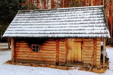 Suitsusaun, sauna à la fumée, Estonie (Mikitamäe)