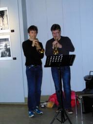 L'école de musique était à nouveau présente pour un vernissage musical à base de trompette