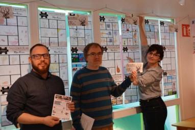 Julien Thibault, Benoît Taillandier et Christelle Jardiné, représentant respectivement la MCL, la médiathèque et la ludothèque