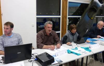 Ludovic Gorge au centre reconduit dans ses fonctions de président de l'ASGCK