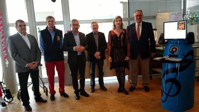 Les membres du Rotary Club en compagnie de Marielle Pfeiffer