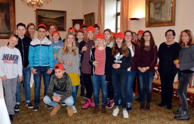 echange collégiens Allemands - la haie Griselle