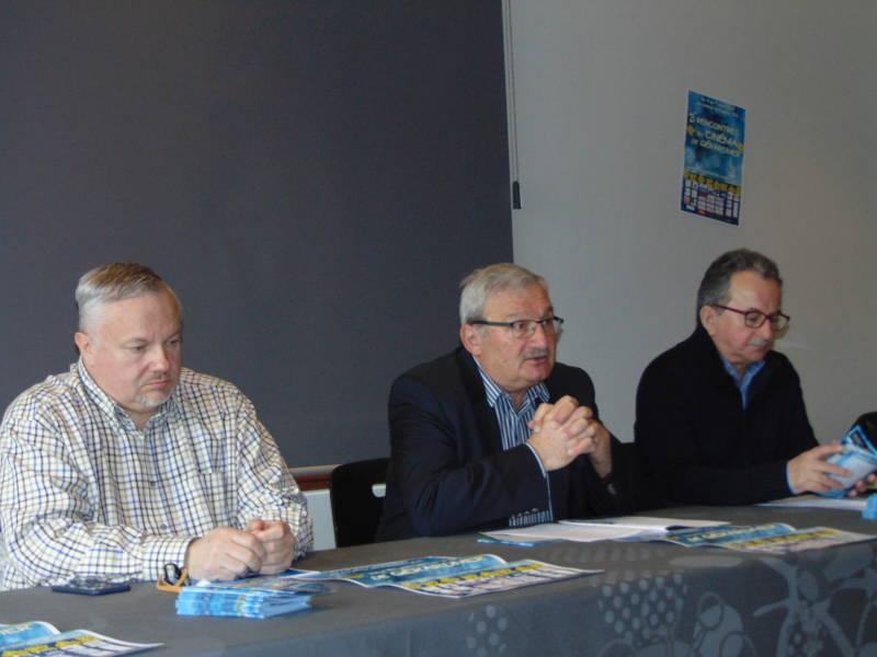Thierry tabaraud, Hervé badonnel et Denis Blum ont présenté cette 21éme édition des Rencontres à la Villa Monplaisir