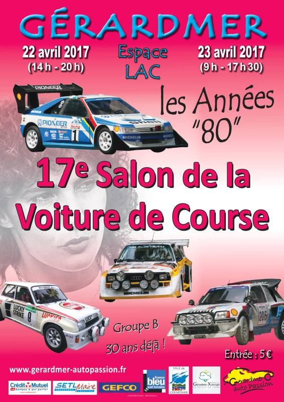Salon de la voiture de course r tro place aux ann es 80 for Salon de voiture