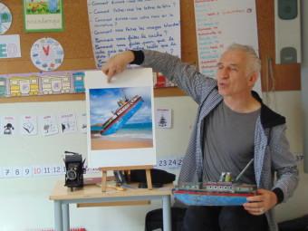 F. Delebecque a présenté son travail et son univers aux enfants