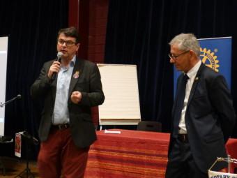 Paul de Montclos et André Jacquelin à la présentation de la soirée
