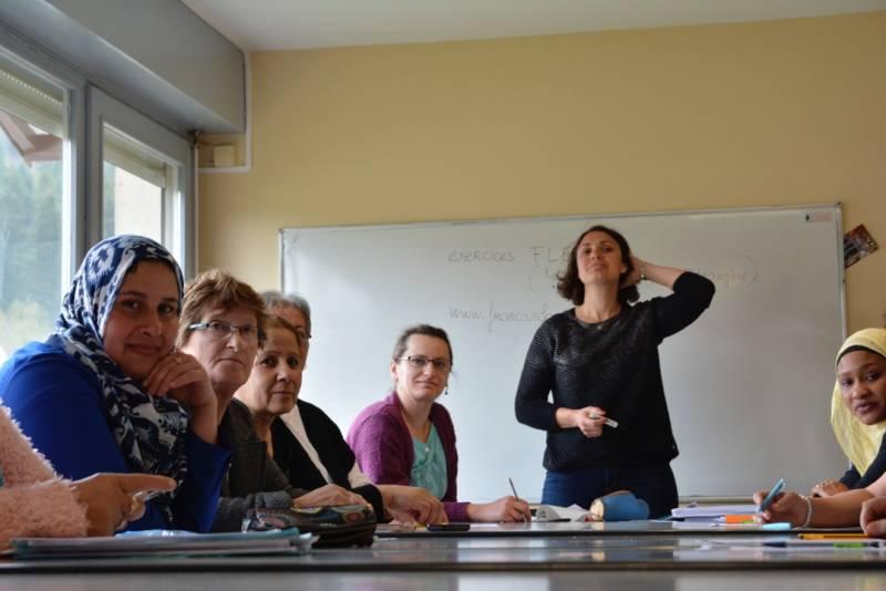 Le groupe en compagnie d'Aurélie Mathieu, formatrice