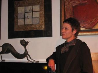 Fabienne Hachet lors de son exposition au Grattoir il y a quelques années