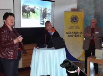Mme Griffanti directrice EACGA et Mr. Fabien Didier avec son chien Urban