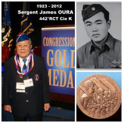 Sergent James OURA Cie K 442° RCT Médaille d'or du Congrès