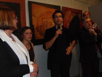 Thierry Kuhn en compagnie de Sophie, l'une des fille de Fabienne