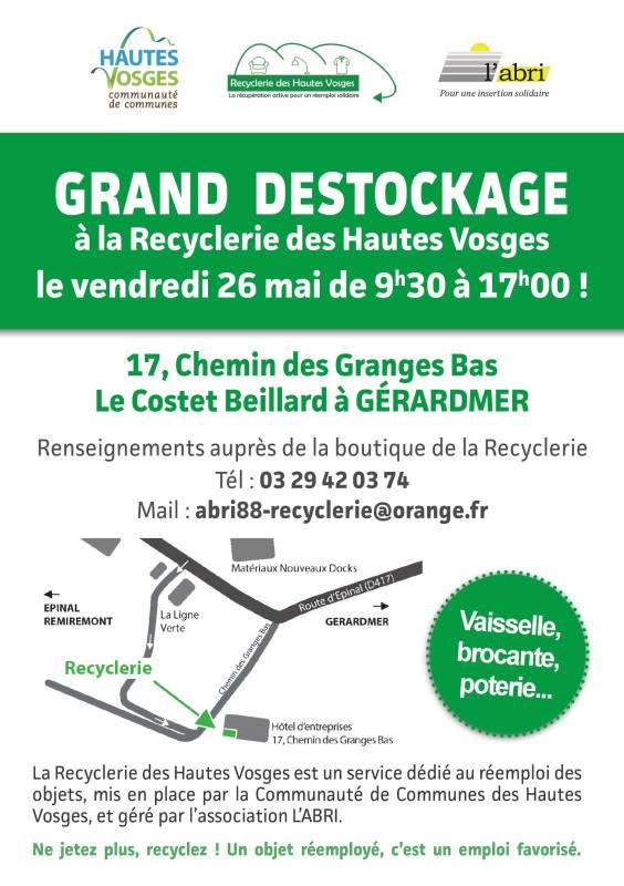 recyclerie hautes vosges destockage