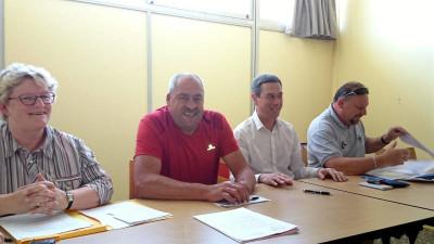 Olivier Simon (au centre) en compagnie d'Évelyne Jean, Stessy Speissmann et Loïc Gegout