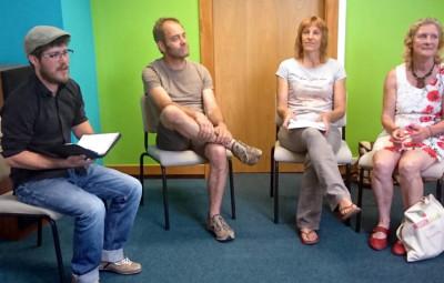 Arthur Demonet (à gauche) en compagnie des intervenants