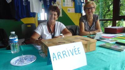 Nelly & Annie font partie de l'équipe d'accueil à l'Espace LAC.