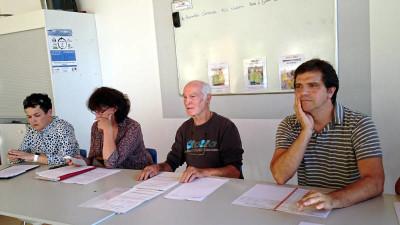 jacky lecoanet en compagnie de M. Monti, Rachel Masson et Nadine Bassière.
