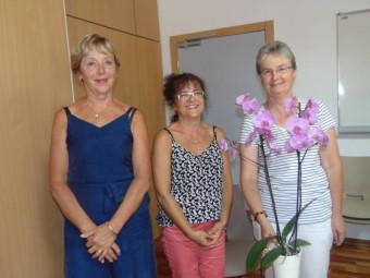 Trois heureuses retraitées avec Véronique, Marie-Odile et Marie-Andrée