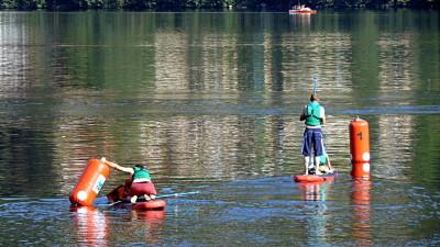 C'est parti pour la chasse au trésor en paddle !!