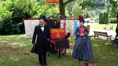 Honorine Hauteville et Camille Corentin, fondateurs du C.R.O.U.T.O.N. (Cercle de Recherche et d'Observation Universelle de Théosophie Omnidirectionnelle de Nancy