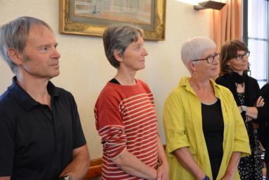 De gauche à droite sur la photo : Alain Ayroulet, Isabelle Mangin & Florence Tiqueur, trois jeunes et heureux retraités