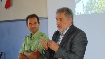 Rodolphe Pierrat en compagnie de l'adjoint au maire de Gérardmer Jean-François Duval.
