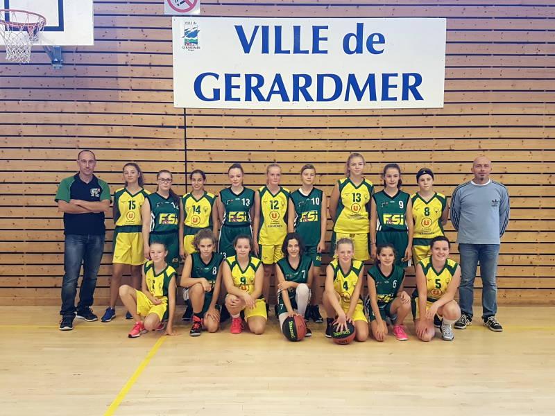 Un match amical opposait Les U15 du CTC Hautes Vosges ( en jaunes) à Héricourt (en vert)