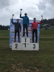 Le podium saut spécial U15 avec Antonin Vaxelaire 3ème