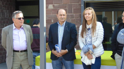 Bernard Krafft, Pascal Houot et Annabelle Fritsch, directrice de l'établissement.
