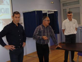 Nicolas Rondot, Richard Péché et Philippe Martin