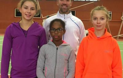 Mel Champlon (à droite, veste orange) a bien représenté son club et sa ville aux championnats de France.