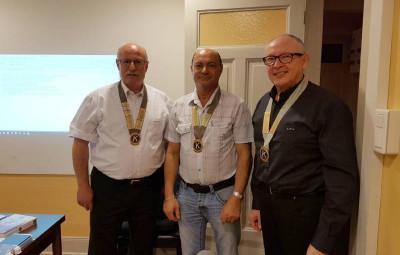 Pascal Houot (au centre), président du club gérômois,