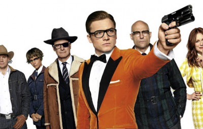 Kingsman: The Golden Circle is a 2017 action spy comedy film produced and directed by Matthew Vaughn and written by Vaughn and Jane Goldman. It is a sequel to Kingsman: The Secret Service (2014), which is based on the comic book series Kingsman. Picture:  	20th Century Fox.