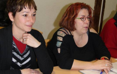 La présidente, Stéphanie Ruer (à droite sur la photo) aux côtés de Marjorie Martin