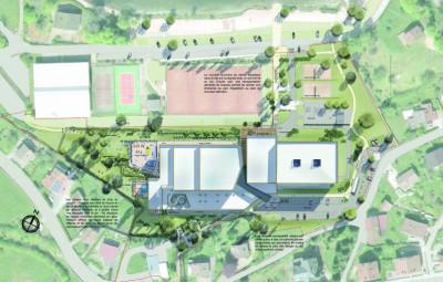 Plan de masse provisoires - cheminements & accès à revoir