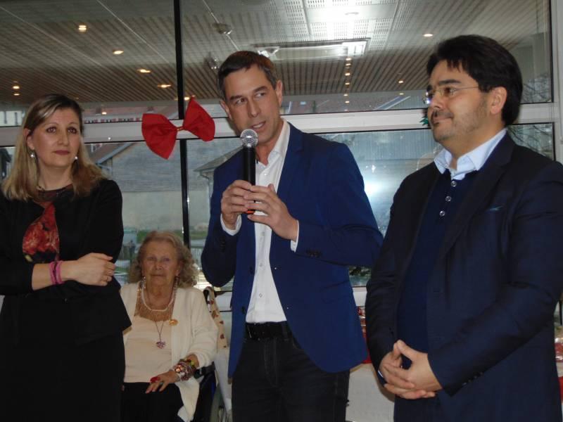 Marielle Pfeiffer, Stessy Speissmann et Pierre Tsuji, nouveau directeur.