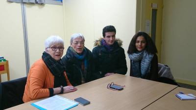Florence Riqueur et Lydie Guillemain en compagnie d'Alex et Fatimatou qui viennent rajeunir les rangs de l'association.