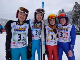 Equipe filles Vosges saut spécial
