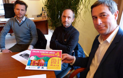 Les organisateurs  en compagnie du maire de Gérardmer