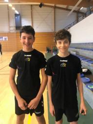 Les 2 nouveaux arbitre Noé & Basile