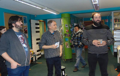 Marc Genatio, Benoît Taillandier et Ben Pi ont eu le plaisir de présenter cette exposition et de lancer la 5éme édition du festival.